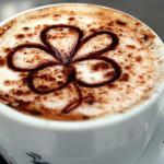 tasse de café fleur